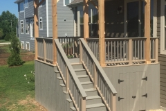 Rope Swing Post Sleeves With Gravel Path Rail