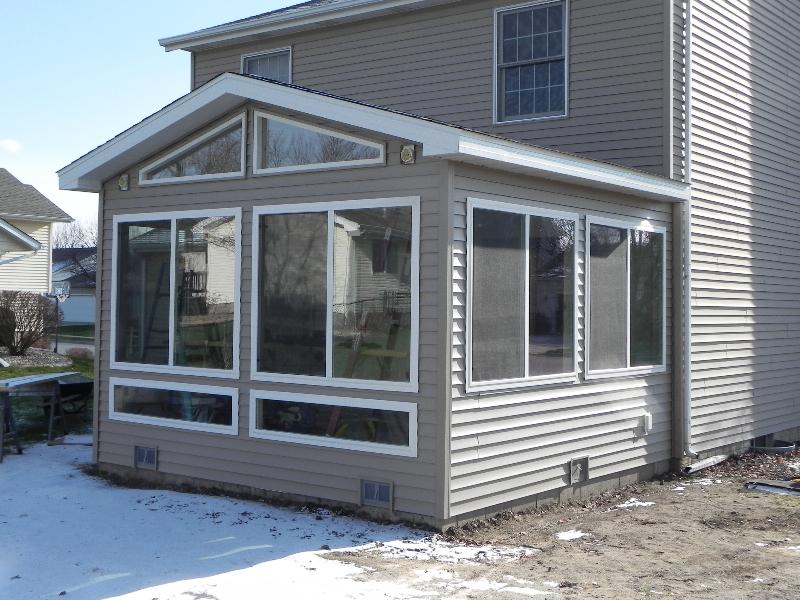 enclosed sunroom extension deck
