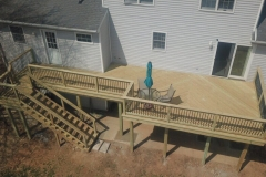 Treated Pine Herringbone deck