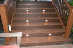 deck lighting in the steps